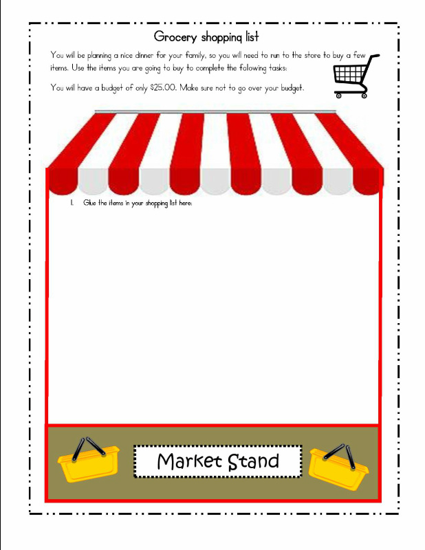 Lesson Plan and Activities Decimals – Grocery Store Math Worksheets